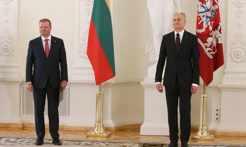 Iš kairės: Saulius Skvernelis, premjeras, ir Gitanas Nausėda, prezidentas. Vladimiro Ivanovo (VŽ) nuotr.