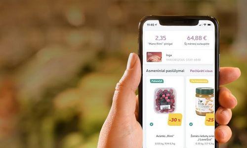 """Plastikinės """"Rimi"""" lojalumo kortelės užleidžia vietą išmaniesiems telefonams"""