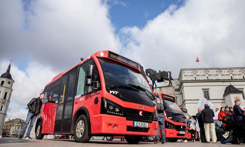 Vilniuje pristatyti pirmieji elektriniai autobusai. Juditos Grigelytės (VŽ) nuotr.