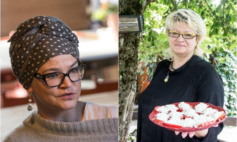 """Jurgita Minderytė-Motiekaitė, """"Kacės virtuvėlė"""" įkūrėja, ir Ramonda Jusienė, namų restorano """"Pasaulio pakrašty"""" įkūrėja. VŽ montažas."""