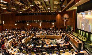 Kaistantpolitiniam klimatuiprasideda JungtiniųTautų Generalinė Asamblėja