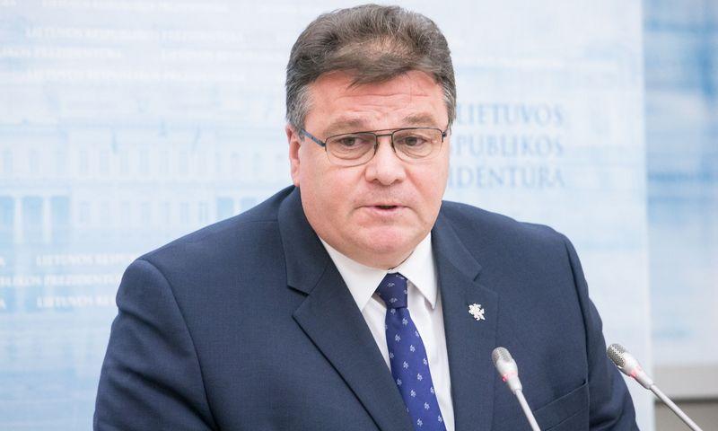 Lietuvos Respublikos užsienio reiklaų ministras Linas Linkevičius. Juditos Grigelytės (VŽ) nuotr.