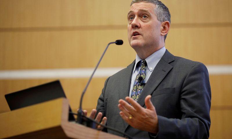 "JAV Federalinių rezervų banko (FED) Sent Luiso banko prezidentas Jamesas Bullardas. Edgaro Su (""Reuters"" / ""Scanpix"") nuotr."