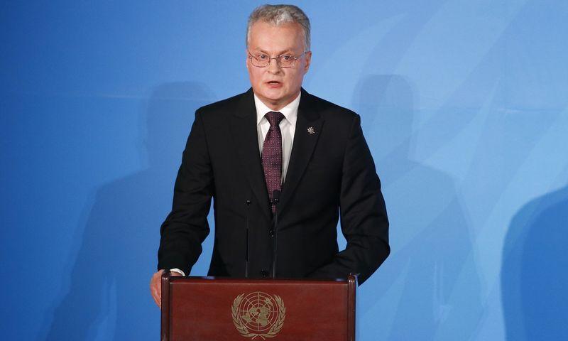 """Gitanas Nausėda, Lietuvos prezidentas. Jasono DeCrow (""""AP Photo"""" / """"Scanpix"""") nuotr."""