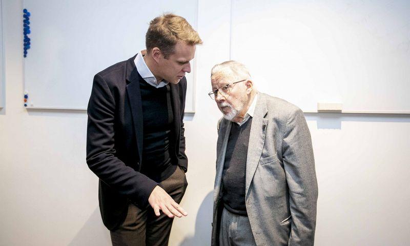"Gabrielius Landsbergis ir Vytautas Landsbergis. Arno Strumilos (""15min"") nuotr."