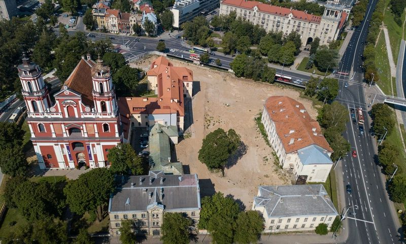 Šv. Apaštalų Pilypo ir Jokūbo bažnyčios bei buvusios ligoninės teritorija.  Vladimiro Ivanovo (VŽ) nuotr.