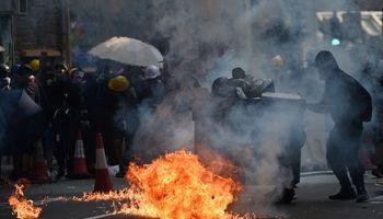 Honkonge pašautas protestuotojas