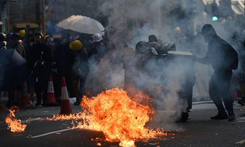 "Protestai Honkonge. Philipo Fongo (""AFP"" / ""Scanpix"") nuotr."