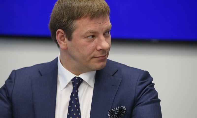 TVF atstovo spaudos konferencija. Finansų ministras Vilius Šapoka. Vladimiro Ivanovo (VŽ) nuotr.