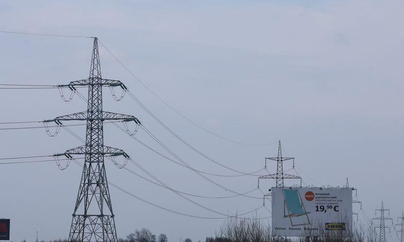 Elektros perdavimo linija. Vladimiro Ivanovo (VŽ) nuotr.