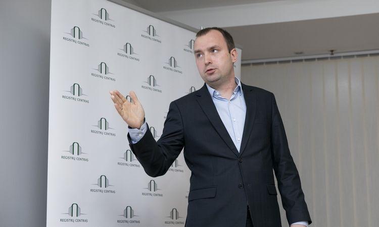 """Paulius Rudzkis, Registrų centro Duomenų atvėrimo skyriaus vadovas.  Luko Balandžio (""""15min"""") nuotr."""