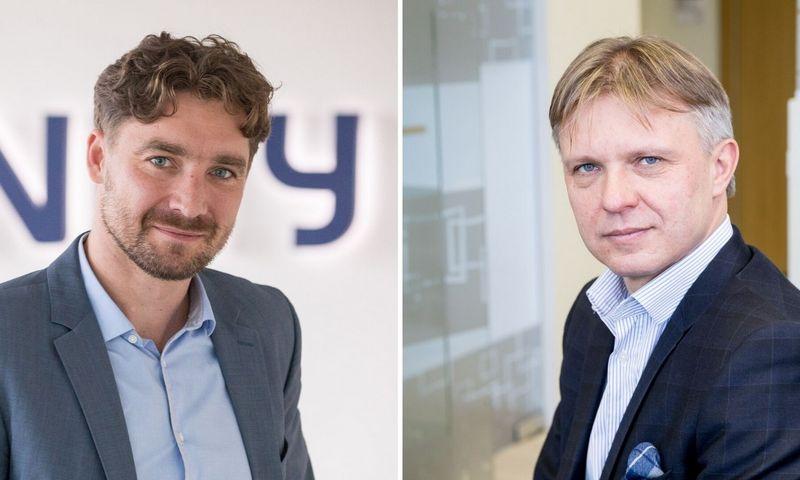 """Vitoldas Sapožnikovas, """"Civinity"""" įmonių grupės stebėtojų tarybos pirmininkas (kairėje) ir Gintautas Mažeika, verslo valdymo paslaugų bendrovės """"Mažeika ir partneriai"""" vykdantysis partneris. Vladimiro Ivanovo (VŽ) nuotr."""