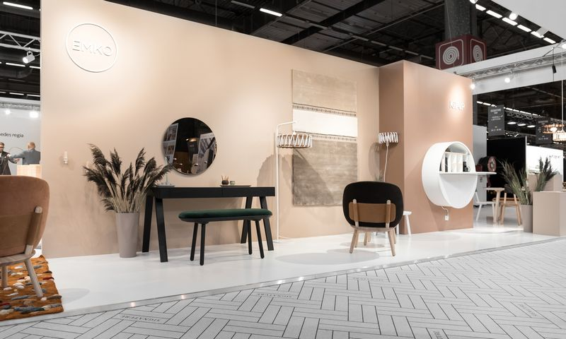 """""""Emko"""" stendas interjero ir dizaino parodoje """"Maison&Objet"""" Paryžiuje. Bendrovės nuotr."""
