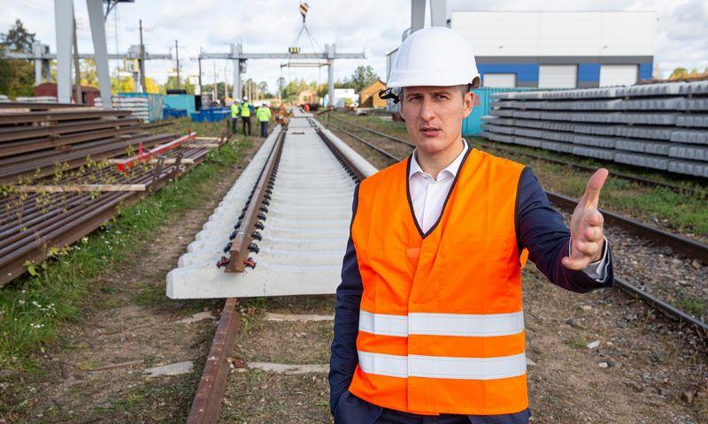 Vytautas Radzevičius, UAB Geležinkelio tiesimo centro (GTC) generalinis direktorius. Vladimiro Ivanovo (VŽ) nuotr.