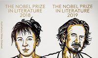 Paskelbti 2018 m. ir 2019 m. Nobelio literatūros premijos laureatai