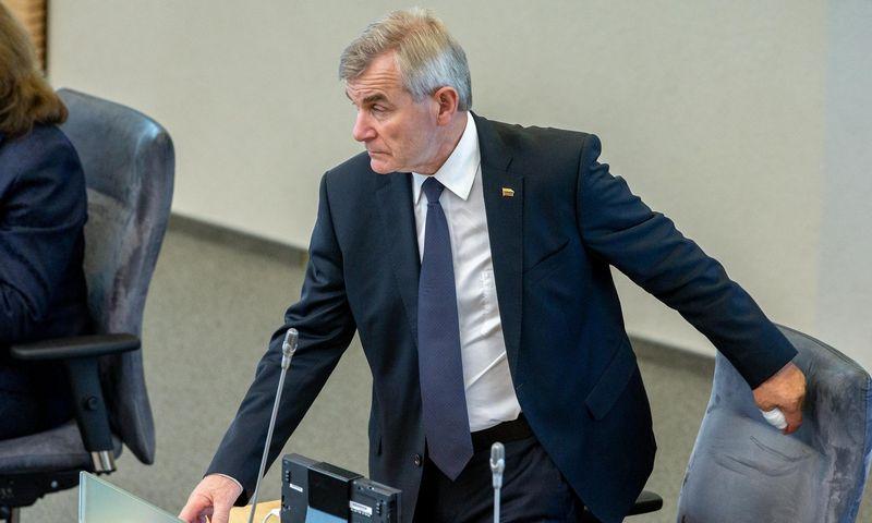 Seimo pirmininkas Viktors Pranckietis. Juditos Grigelytės (VŽ) nuotr.