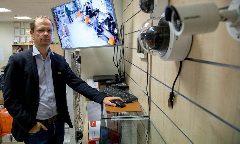 """Andrius Dapkevičius, """"BK grupės"""" plėtros direktorius: """"Kartais klientui tą pačią dieną prireikia 300 kamerų ar daugiau. Čia ir dabar. Mes tokį kiekį galime pasiūlyti."""" Vladimiro Ivanovo (VŽ) nuotr."""