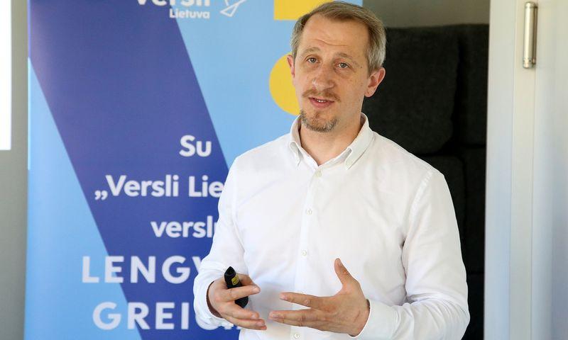 """V. Ivanovas, VšĮ """"Versli Lietuva"""" tyrimų ir analizės skyriaus vadovas: """"Ribota juridinio asmens atsakomybė yra saugiklis, nes verslas nebūtinai gali pasisekti."""" Vladimiro Ivanovo (VŽ) nuotr."""