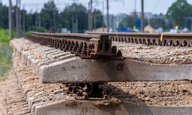 """""""Rail Baltica"""" geležinkelio tiesimo darbai. Juditos Grigelytės (VŽ) nuotr."""