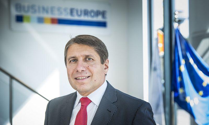 """Markusas Beyreris, pramonės organizacijas ir darbdavius vienijančios """"Business Europe"""" generalinis direktorius. Eriko Luntango (""""Business Europe"""")  nuotr."""