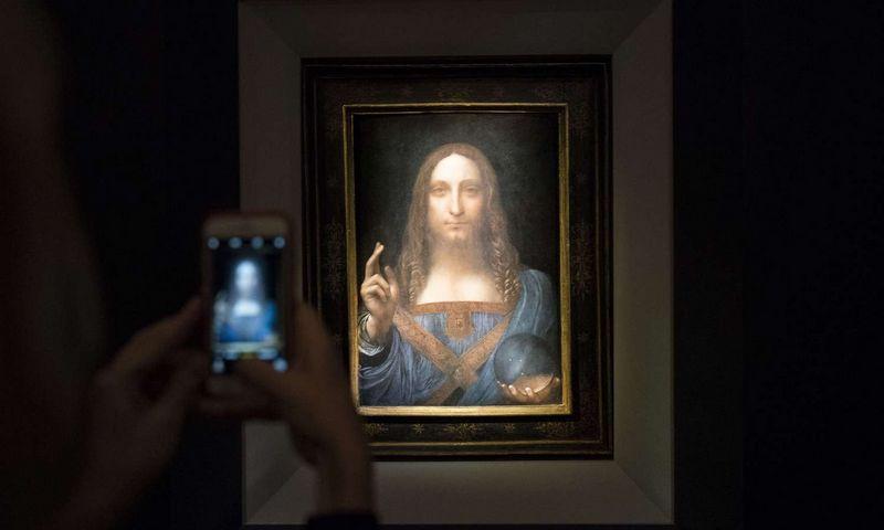 "L. da Vincio ""Salvator Mundi"" 2017 m. aukcione parduotas už 450 mln. USD. Drew Angerer (""AFP""/""Scanp"
