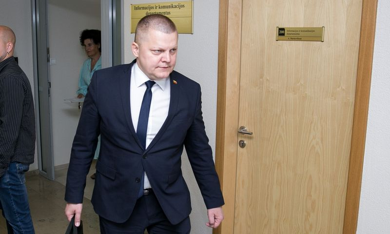 """Nacionalinio saugumo ir gynybos komiteto pirmininkas Dainius Gaižauskas. Žygimanto Gedvilos (""""15min"""") nuotr."""