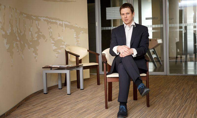 """Andrius Jurkonis, vertės investavimo filosofijos šalininkas, investicinio fondo """"Axia Value Fund"""" valdytojas. Vladimiro Ivanovo (VŽ) nuotr."""