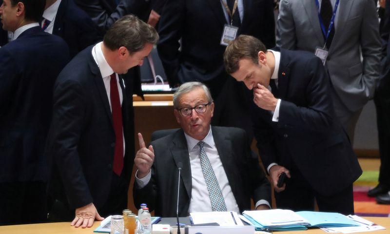 """ES vadovai Briuselyje pradėjo derybas dėl būsimo daugiamečio Bendrijos biudžeto. Aris Oikonomou (""""Reuters""""/""""Scanpix"""") nuotr."""
