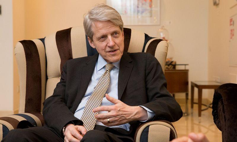 Roberas Shilleris, lietuvių kilmės ekonomistas ir Nobelio premijos laureatas. Juditos Grigelytės (VŽ) nuotr.