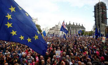 """Po pralaimėjimo parlamente B. Johnsonaspaprašė """"Brexit"""" atidėjimo"""