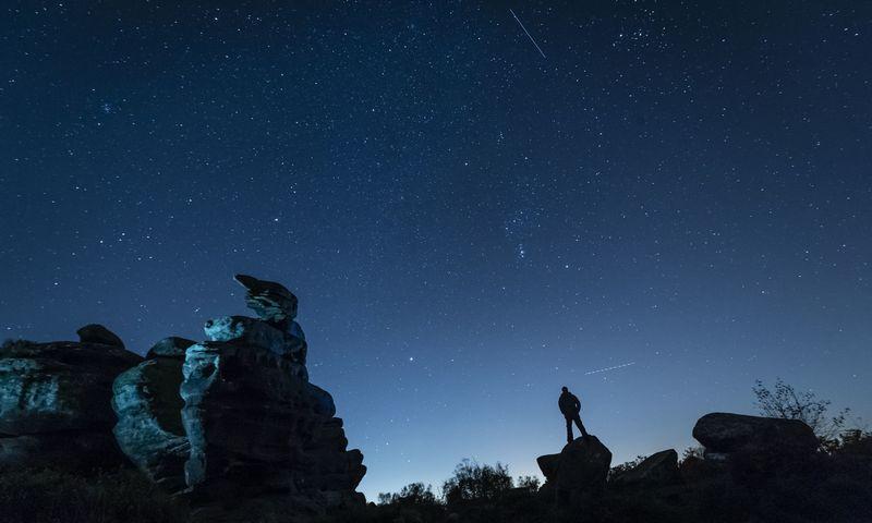 "Orionidų meteorai spalio danguje. Danny Lawson / ""Scanpix"" nuotr."