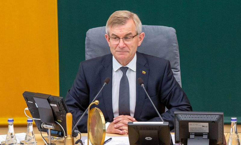 Viktoras Pranckietis, Seimo pirmininkas. Juditos Grigelytės (VŽ) nuotr.