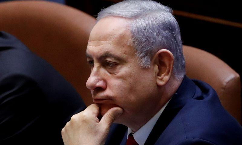 "Izraelio premjeras Benjaminas Netanyahu.  Roneno Zvuluno (""Reuters"" / ""Scanpix"") nuotr."