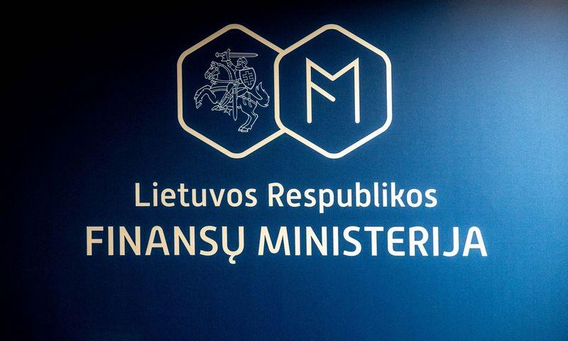 Finansų ministerijos logotipas. Juditos Grigelytės (VŽ) nuotr.