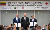 Lietuva ir Japonija pasirašė memorandumus energetikos ir IT srityse