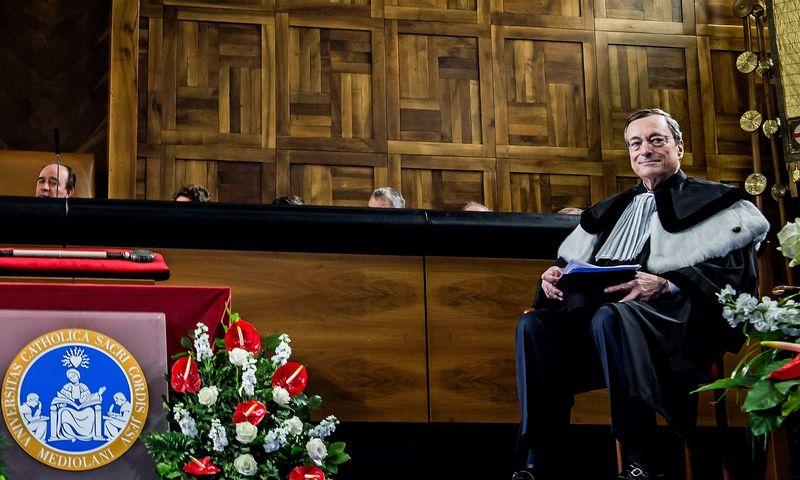 "Mario Draghi, ECB prezidentas. Nicolos Marfisi (AGF / SIPA / ""Scanpix"") nuotr."
