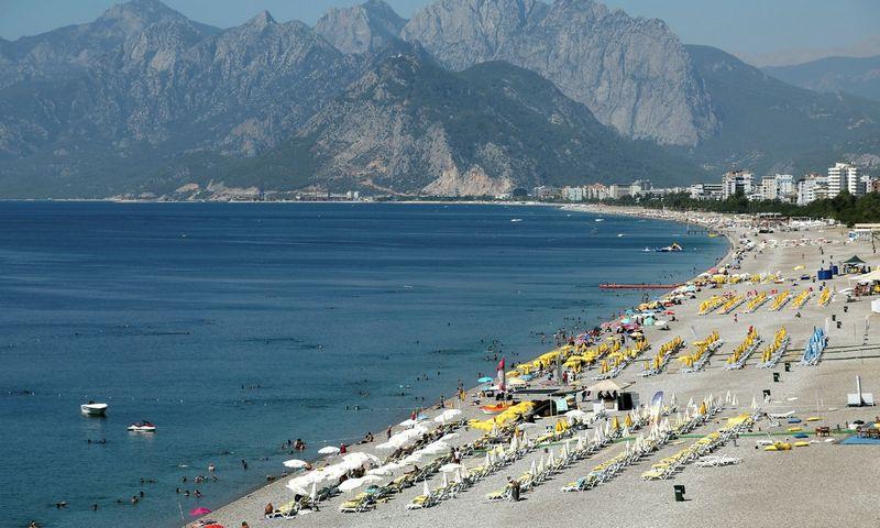 """Skelbiama, kad iš Lietuvos šiemet Antalijoje lankėsi 159.000 turistų, 15% daugiau nei pernai tuo pačiu metu. Kaan Soyturk (Reuters""""/Scanpix"""") nuotr."""
