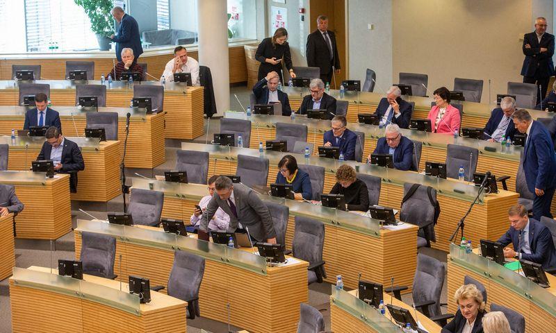 Seime vyksta biudžeto svarstymas. Vladimiro Ivanovo (VŽ) nuotr.
