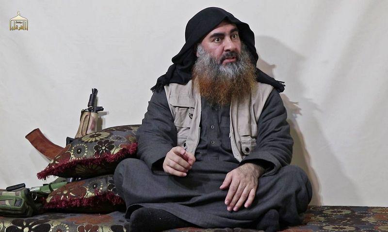 """Abu Bakras al-Baghdadi. AFP / """"Scanpix"""" nuotr."""
