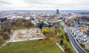 Vilniuje nugriauti buvę Profesinių sąjungų rūmai