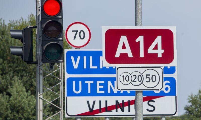 Magistralinis kelias A14, jungiantis Vilnių ir Uteną. Vladimiro Ivanovo (VŽ) nuotr.