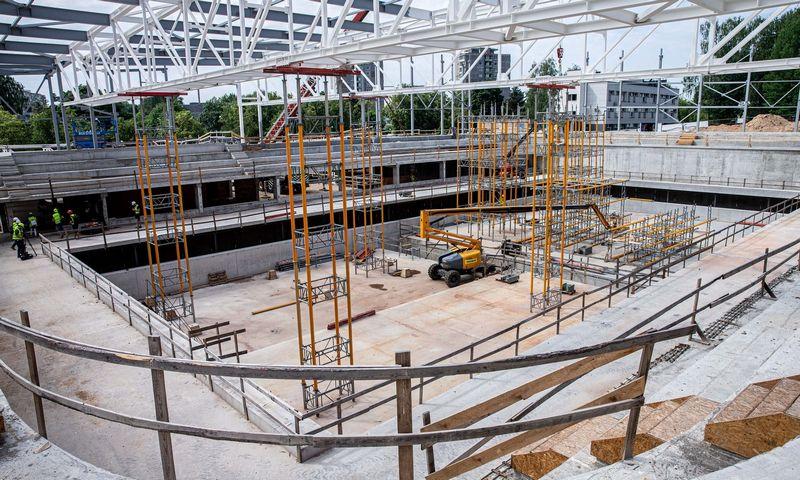 Lazdynų daugiafunkcio sveikatinimo centro statybų aikštelė. Juditos Grigelytės (VŽ) nuotr.