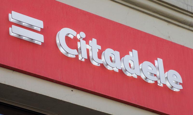 """Banko """"Citadele"""" iškaba. Juditos Grigelytės (VŽ) nuotr."""