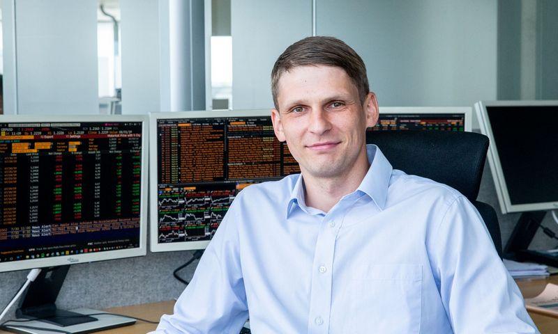 Eduardas Petrulis, SEB banko Finansų rinkų departamento finansų analitikas. Juditos Grigelytės (VŽ) nuotr.