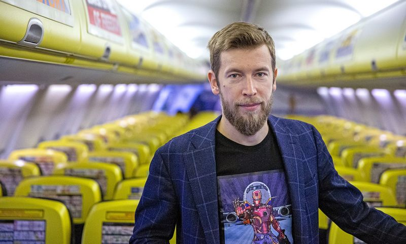 """Karolis Čepukas , UAB """"Kaunas Aircraft Maintenance Services"""" vadovas: """"Kauno oro uoste šiuo metu yra 8 orlaivių remonto linijos. Labai realu, kad tas skaičius galėtų būti dvigubai didesnis.""""  Vladimiro Ivanovo (VŽ) nuotr."""