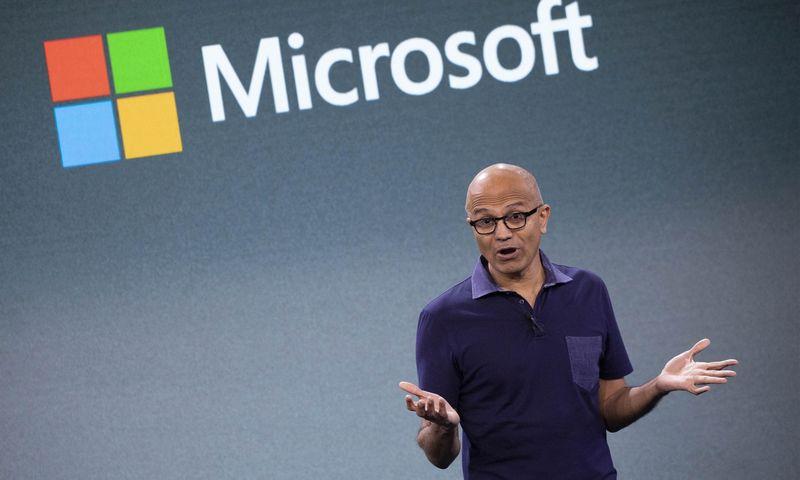 "Satya Nadella, ""Microsoft"" vadovas. Marko Lennihano (""AP"" / ""Scanpix"") nuotr."