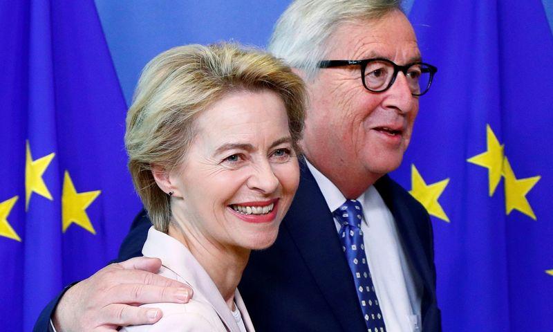 Dar praeis kažkiek laiko, kol Jeanas Claude'as Junckeris Europos Komisijos vadovo kabinetą užleis Ursulai von der Leyen. Francois Lenoir (Reuters/Scanpix) nuotr.