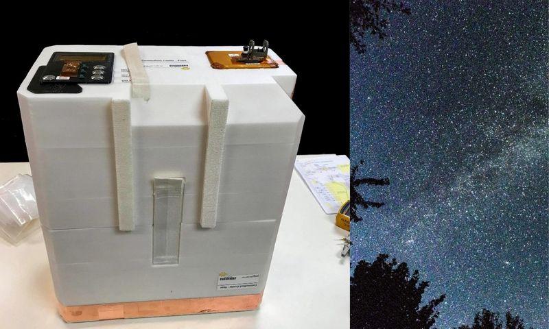 """ISS orbitoje dangumi metus skries """"dėžė"""" su 12 butelių vyno. """"nasa.gov"""" nuotr."""