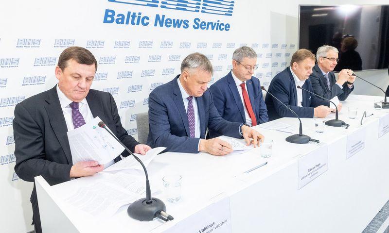 Verslo organizacijų spaudos konferencija BNS. Juditos Grigelytės (VŽ) nuotr.