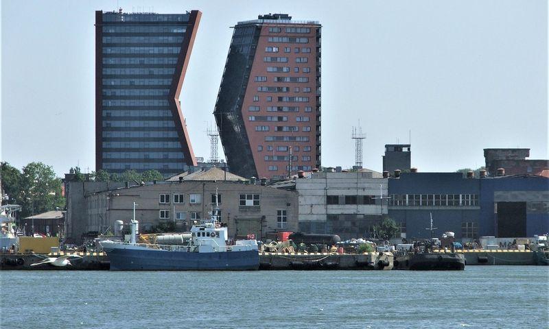 Klaipėdoje nustačius aplinkos taršą, atsakymo ieškoma uosto įmonėse. Lino Butkaus (VŽ) nuotr.